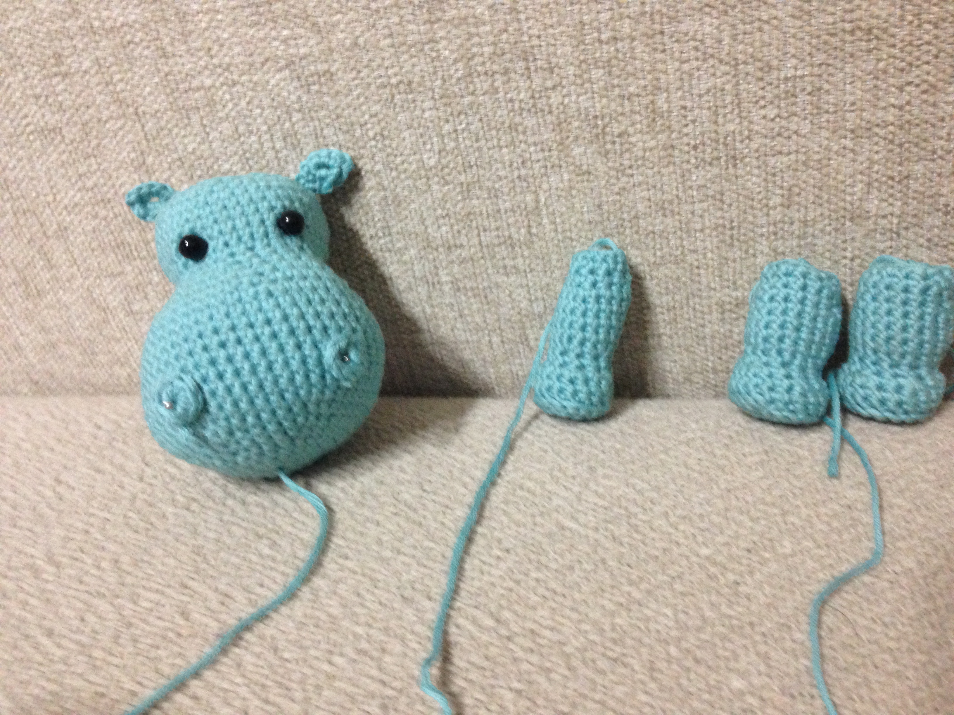 Patrón Hipopótamo Amigurumi   So Fanny !! Handmade